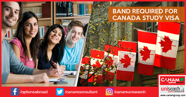 Band Required for Canada Study Visa