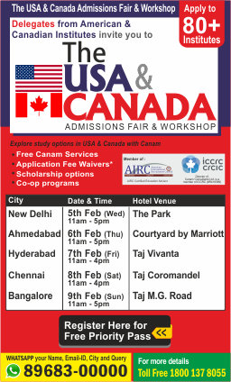 The USA & Canada Admissions Workshop 2020