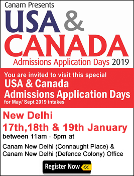 Canam Present USA and Canada Admission Application Days 2019